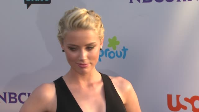 Amber Heard at the NBC Universal Press Tour AllStar Party at Los Angeles CA
