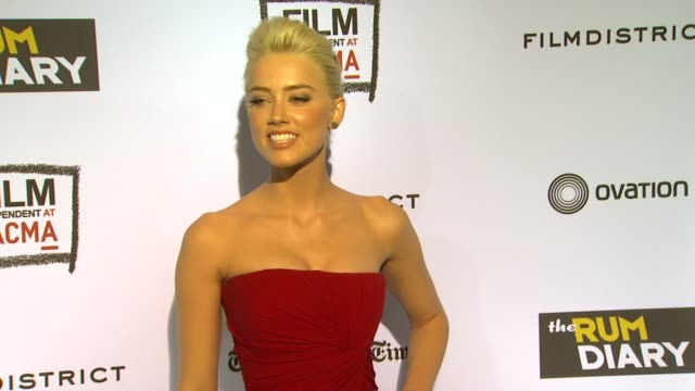 Amber Heard at the 'The Rum Diary' Los Angeles Premiere at Los Angeles CA