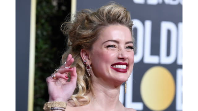 amber heard attends the 76th annual golden globe awards held at the beverly hilton hotel on january 6 2019 - amber heard stock videos & royalty-free footage