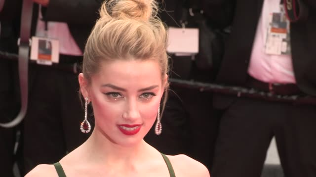 Amber Heard Deepika Padukone Aja Naomi King and Thylane Blondeau on the red carpet for the Premiere of Plaire Aimer et Courir Vite at the Cannes Film...