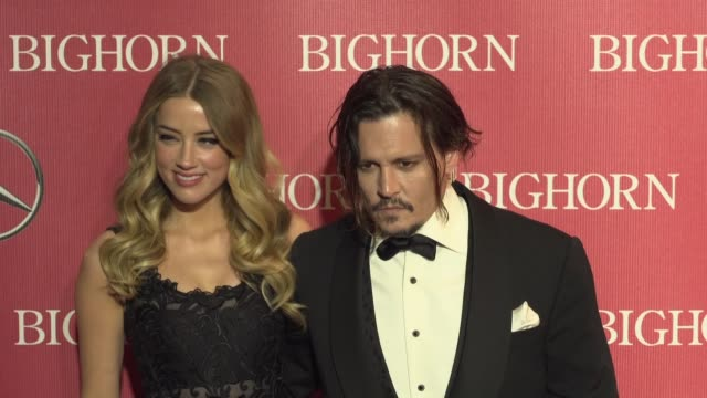 Amber Heard Johnny Depp at 27th Annual Palm Springs International Film Festival Awards Gala in Los Angeles CA