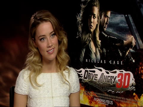 amber heard on being a car fan her own car at the drive angry interview at london england - personal land vehicle stock videos & royalty-free footage