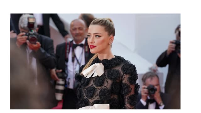 Amber Heard on the red carpet of 'Girls Of The Sun' during the 71st Cannes Film Festival on May 8 2018 in Cannes France