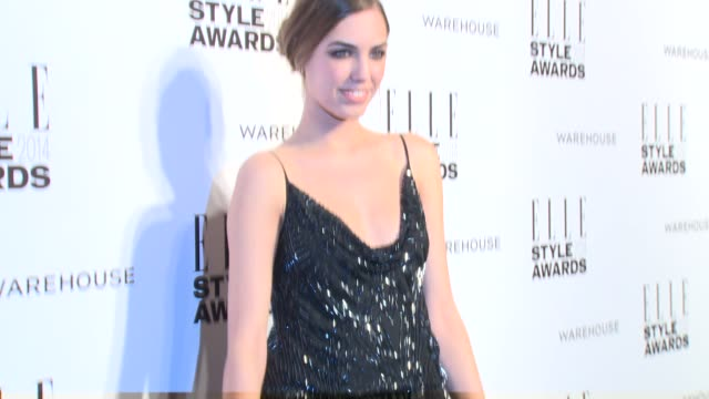 amber le bon at elle style awards arrivals at one embankment on february 18 2014 in london england - embankment stock videos and b-roll footage