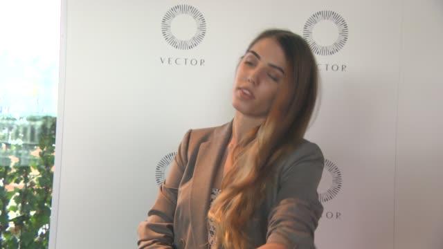 vídeos y material grabado en eventos de stock de amber le bon at vector watch launch event on july 28, 2015 in london, england. - vector