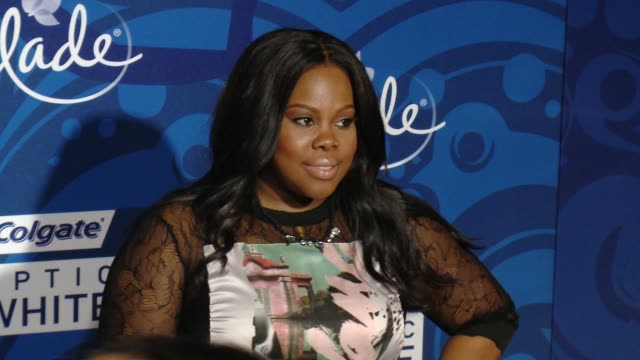 amber riley at 6th annual essence black women in music event honoring singer/songwriter/storyteller jill scott in los angeles, ca 2/5/15 - storyteller stock videos & royalty-free footage