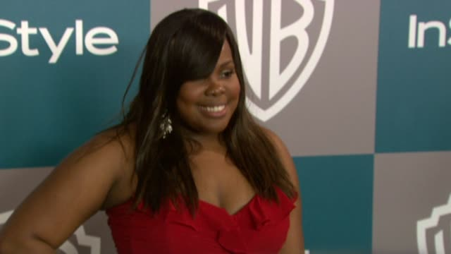 amber riley at the 13th annual warner bros. and instyle golden globe after-party in beverly hills, ca, on 1/15/12 - warner bros. stock videos & royalty-free footage