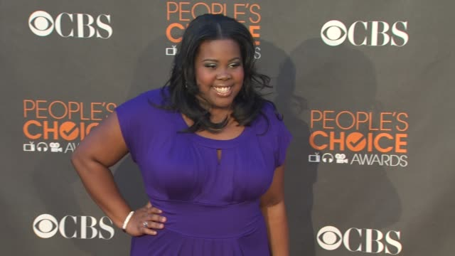 amber riley at the 36th annual people's choice awards at los angeles ca. - people's choice awards stock videos & royalty-free footage