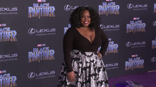 Amber Riley at the Marvel Studios' 'Black Panther' World Premiere at Dolby Theatre on January 29 2018 in Hollywood California