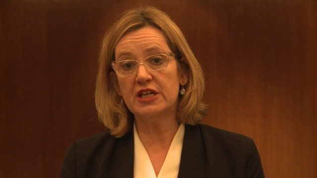Amber Rudd saying the British people 'will be united in working together to defeat those who would harm our shared values' after the Wesminster...
