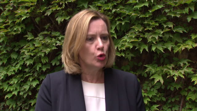 """amber rudd saying """"there were already good preparations in place"""" to prevent the nhs cyber attack - 国民保険サービス点の映像素材/bロール"""