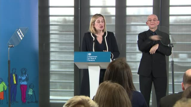 amber rudd speech on disability benefits england london int amber rudd mp question and answer session q - disability stock videos & royalty-free footage