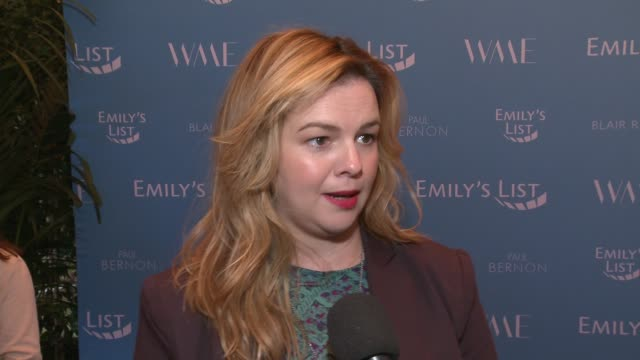 INTERVIEW Amber Tamblyn at Raising Our Voices Supporting More Women in Hollywood Politics at Four Seasons Hotel Los Angeles at Beverly Hills on...