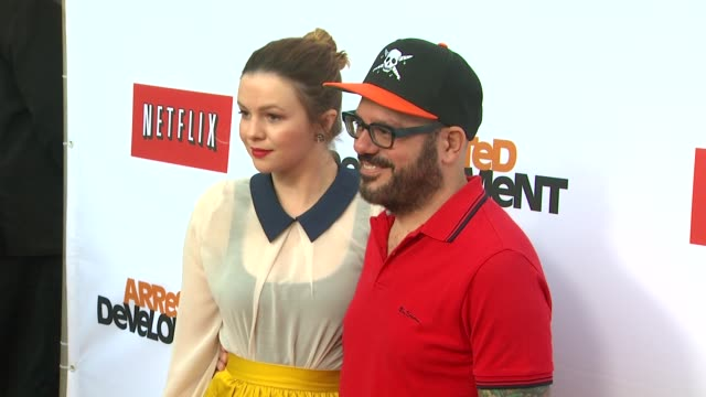 Amber Tamblyn David Cross at Netflix's Arrested Development Season Four Los Angeles Premiere 4/29/2013 in Hollywood CA