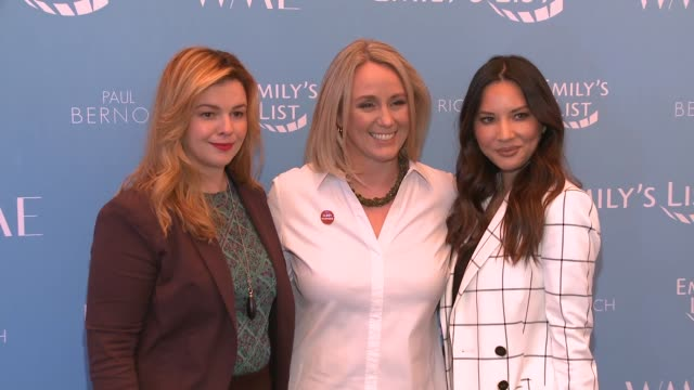 Amber Tamblyn Stephanie Schriock and Olivia Munn at Raising Our Voices Supporting More Women in Hollywood Politics at Four Seasons Hotel Los Angeles...