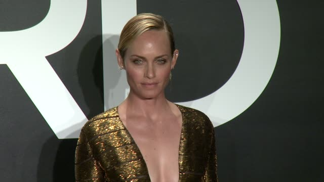 amber valetta at tom ford presents his autumn/winter 2015 womenswear collection at milk studios on february 20, 2015 in los angeles, california. - アンバー ヴァレッタ点の映像素材/bロール