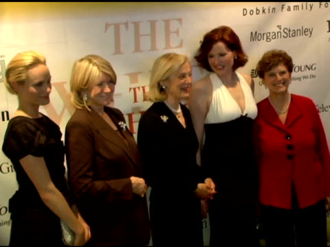 amber valetta, martha stewart, nan anan, genna davis and marie wilson, president of the white house project at the white house projects 2006 epic... - amber stock videos & royalty-free footage