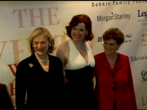 amber valetta, martha stewart, nan anan, genna davis and marie wilson, president of the white house project at the white house projects 2006 epic... - martha stewart stock videos & royalty-free footage