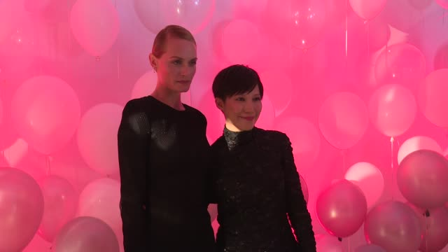 amber valletta and sandra choi at jimmy choo 20th anniversary event during new york fashion week at tbd on september 08 2016 in new york city - amber valletta stock videos and b-roll footage