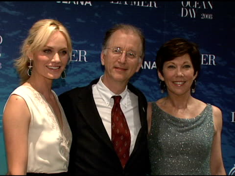 amber valletta andrew sharpless and maureen case at the la mer and oceana present world ocean day 2008 at new york ny - amber valletta stock videos and b-roll footage