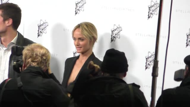 amber valletta arrives to the stella mccartney autumn 2016 presentation at amoeba records in hollywood in celebrity sightings in los angeles - amber valletta stock videos and b-roll footage