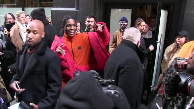 amber valletta, asap rocky and more at the calvin klein ready to wear fall winter 2017 fashion show in new york city new york city, ny, usa, on... - 既製服点の映像素材/bロール