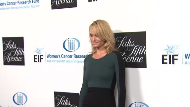 amber valletta at an unforgettable evening benefiting the entertainment industry foundation's women's cancer research fund on 4/18/12 in los angeles... - amber valletta stock videos and b-roll footage