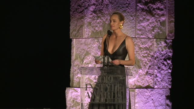 speech amber valletta at fifth annual instyle awards at the getty center on october 21 2019 in los angeles california - amber valletta stock videos and b-roll footage