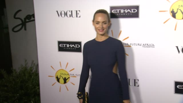 amber valletta at gelila and wolfgang puck's dream for future africa foundation gala in beverly hills ca on - amber valletta stock videos and b-roll footage