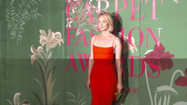 amber valletta at green carpet fashion awards on september 22 2019 in milan italy - amber valletta stock videos and b-roll footage