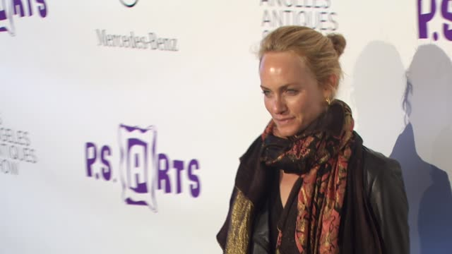 amber valletta at the 15th annual los angeles antiques show 2010 at santa monica ca - neckwear stock videos and b-roll footage