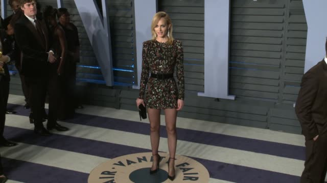 amber valletta at the 2018 vanity fair oscar party on march 04 2018 in beverly hills california - amber valletta stock videos and b-roll footage