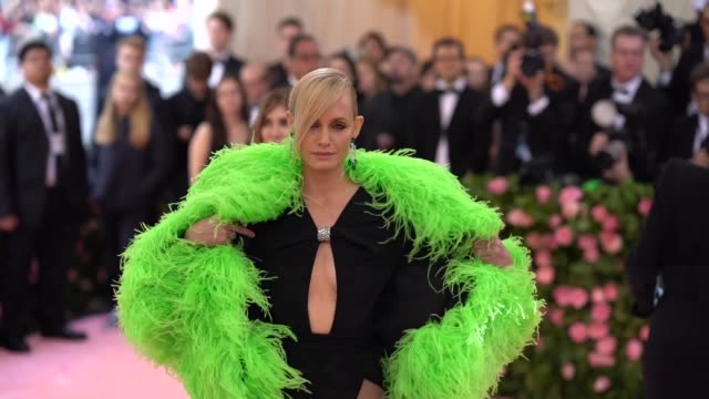 amber valletta at the 2019 met gala celebrating camp notes on fashion arrivals at metropolitan museum of art on may 06 2019 in new york city - amber valletta stock videos and b-roll footage