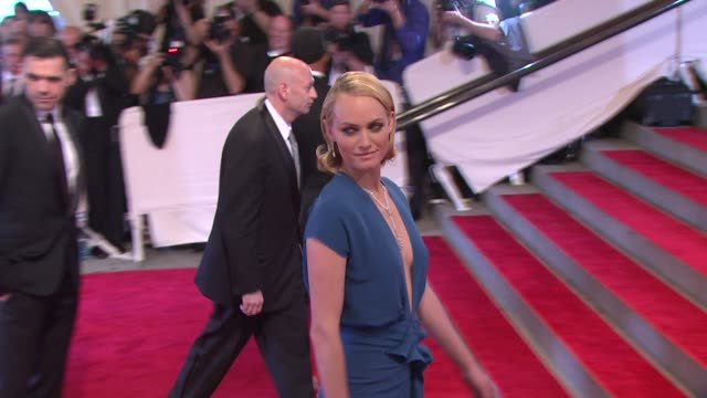 amber valletta at the 'american woman fashioning a national identity' met gala arrivals at new york ny - amber valletta stock videos and b-roll footage