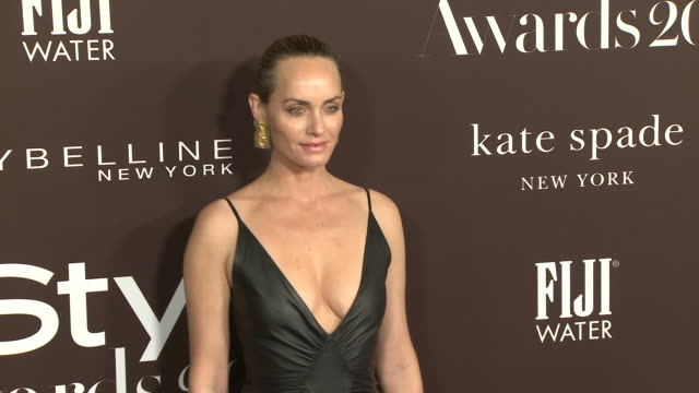 amber valletta at the fifth annual instyle awards in los angeles ca - amber valletta stock videos and b-roll footage