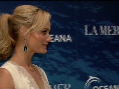 amber valletta at the la mer and oceana present world ocean day 2008 at new york ny - amber valletta stock videos and b-roll footage