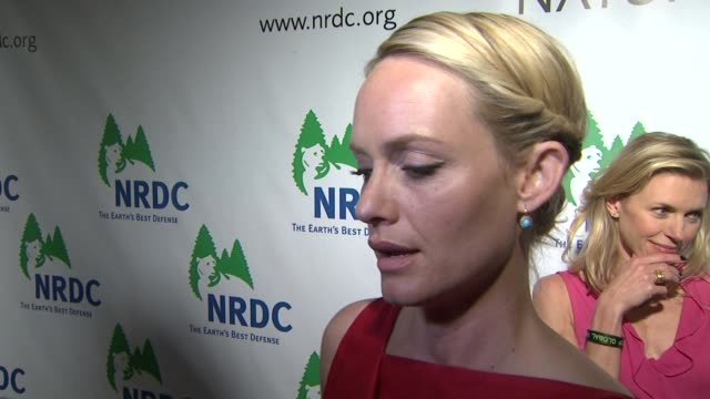amber valletta at the national resources defense council's 20th anniversary celebration at beverly hills ca - amber valletta stock videos and b-roll footage