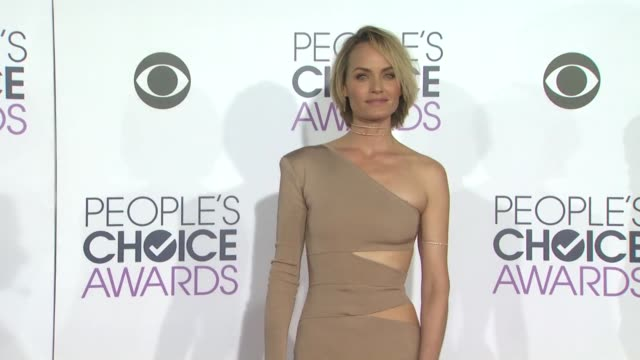 amber valletta at the people's choice awards 2016 at nokia plaza la live on january 6 2016 in los angeles california - amber valletta stock videos and b-roll footage