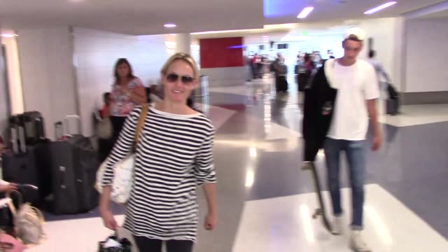amber valletta departing at lax airport in los angeles in celebrity sightings in los angeles - amber valletta stock videos and b-roll footage