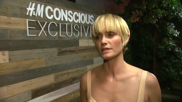 interview amber valletta on being the fave of the new collection what she loves about hm sustainability efforts what she loves about the conscious... - fashion collection stock videos & royalty-free footage