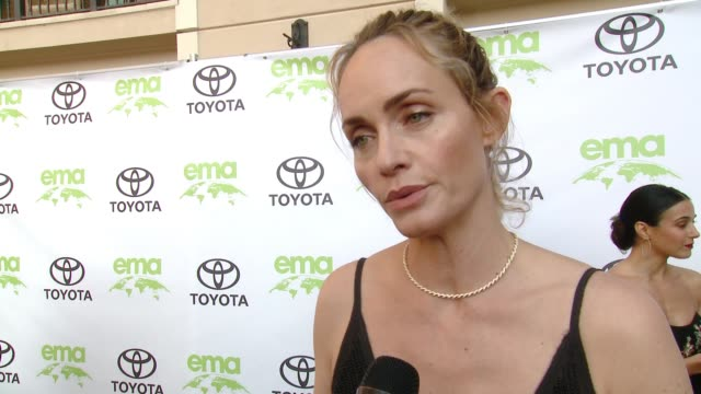 interview amber valletta on how did you get involved with ema on why is it important for you to align yourself with ema at the 28th annual... - バレッタ点の映像素材/bロール