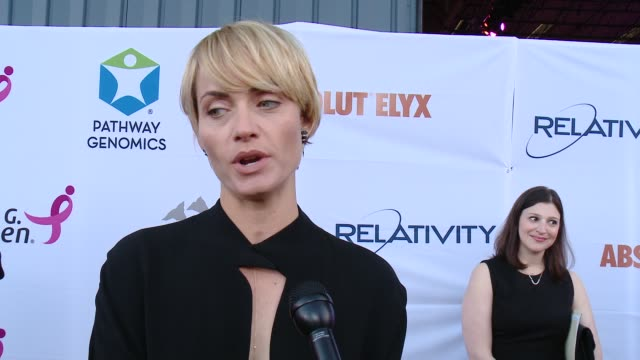 amber valletta on supporting the cause, on how cancer has impacted her and on prevention versus a cure at pathway to the cure for breast cancer: a... - アンバー ヴァレッタ点の映像素材/bロール
