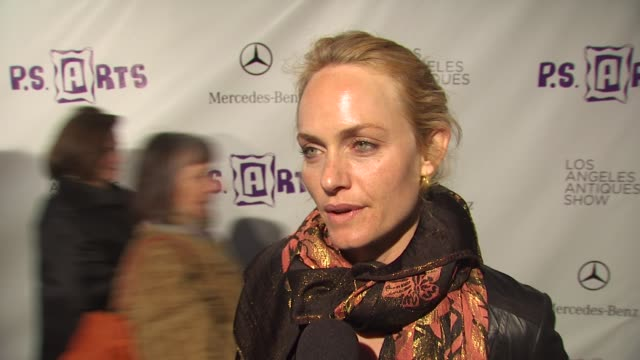 amber valletta on what brings her out tonight why its important to do everything possible to keep arts programs in public schools being a fan of... - neckwear stock videos and b-roll footage
