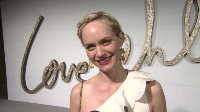 amber valletta on what she's wearing on attending tonight's event on her favorite piece of chloe clothing in her closet and on her must have article... - amber valletta stock videos and b-roll footage