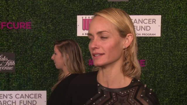"""interview amber valletta on why she wanted to support wcrf's an unforgettable evening at wcrf's """"an unforgettable evening"""" presented by saks fifth... - amber valletta stock videos and b-roll footage"""