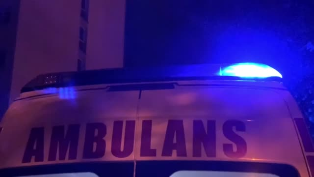 ambulance standing in the street - heart attack stock videos & royalty-free footage