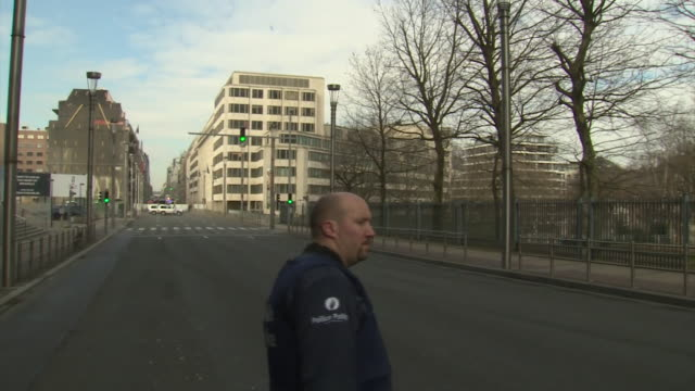 ambulances and police cars racing to the scenes of the brussels terror attacks - belgium stock videos & royalty-free footage