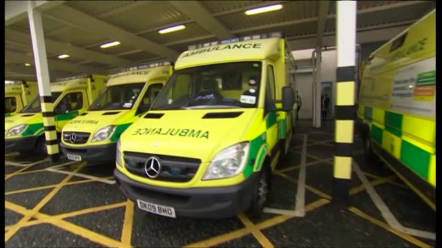ambulances parked in bays outside emergency department at hospital - bay of water stock videos & royalty-free footage
