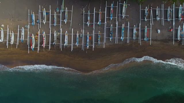 amed beach aerial view. bali - bali stock videos & royalty-free footage