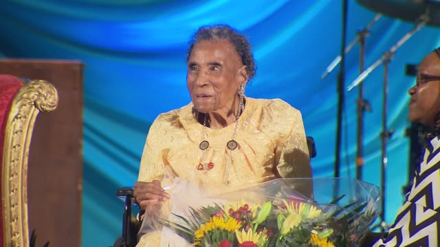Amelia Boynton Robinson Speaks at the United Palace House of Inspiration She is known as the matriarch of the voting rights movement was beaten tear...